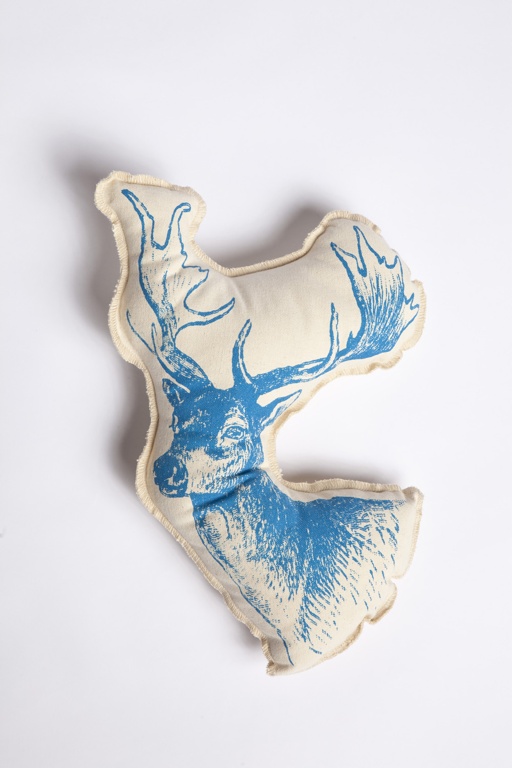 Stag head pillow by lucky fish nanamina for Fish body pillow